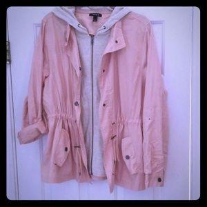 "Lightweight anorak jacket with built in ""hoodie"""